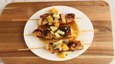 These citrus marinated chicken skewers are a refreshing lunch or dinner. Perfect for the upcoming grilling season!