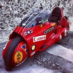 motorcycle from the movie akira Hover Car, Hobby Cars, Futuristic Cars, Bike Art, Custom Bikes, Cool Bikes, Manga Art, Akira, Motorbikes