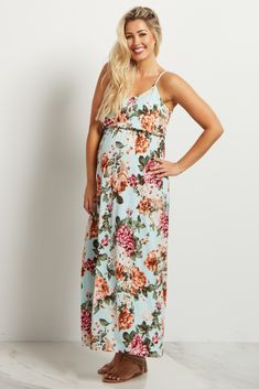 ac2a9aaef914c You can never have enough maxis in your closet! This stunning maternity  maxi dress is