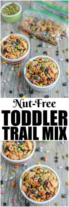 Banana avocado applesauce and oatmeal muffins kid recipes this nut free toddler trail mix is the perfect make ahead snack make forumfinder Images