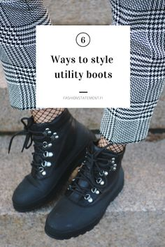 DIY: OHJE HELPPOON VILLAPAITAAN x 2 | Fashion Statement Minimal Outfit, Minimal Fashion, Timberland Outfits, Scandinavian Fashion, All Black Sneakers, Winter Outfits, The Originals, Boots, Minimalist