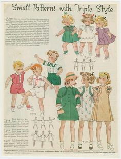 1937 Small patterns with triple style.