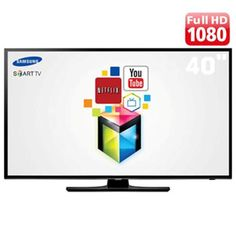 "Smart TV LED 40"" Full HD Samsung UN40H5103 com Função Futebol, ConnectShare Movie, Entradas HDMI e USB e Wi-Fi"