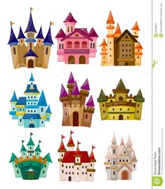 Cartoon Fairy Tale Castle Icon Royalty Free Stock Images - Image: 22168879