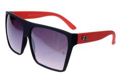 Ray Ban Clubmaster RB2128 Sunglasses Red/Black Frame