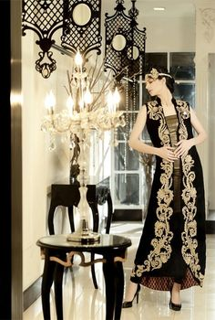 Pak Couture...Like the details & silhouette. Change the pants shape to fit your style.