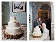 Rustic Cake at a Lyman Estate Wedding