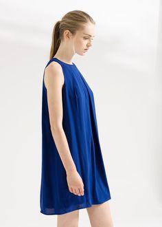 Sukienka deseń w koła - Mango
