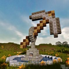 Minecraft building ideas for happy gaming 37 Casa Medieval Minecraft, Minecraft Statues, Minecraft Structures, Minecraft Buildings, Epic Minecraft Houses, Minecraft Museum, Minecraft Fountain, Minecraft Underground, Minecraft World