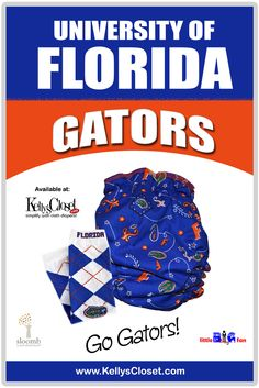 University of Florida Gators fitted cloth diapers and leg warmers. http://www.kellyscloset.com/Collegiate-Gear_c_994.html.  Lachlan must have this diaper!