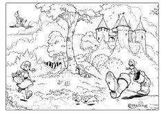 Efteling Fairytale Theme Park Coloring Page 1 Mermaid Coloring Pages, Princess Coloring Pages, Mandala Coloring Pages, Coloring Pages For Kids, Coloring Sheets, Adult Coloring, Animal Masks, Fantasy Images, Digi Stamps