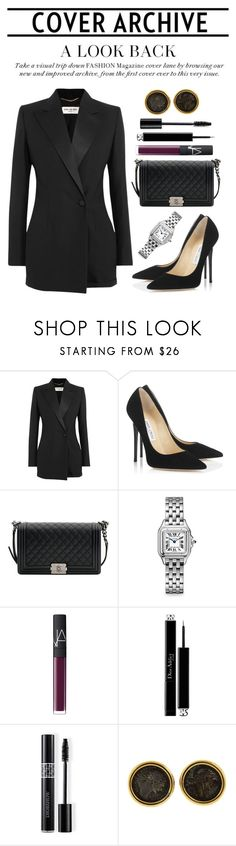 """""""Untitled #383"""" by versaceslut ❤ liked on Polyvore featuring Yves Saint Laurent, Jimmy Choo, Chanel, Cartier, NARS Cosmetics, Christian Dior and Bulgari"""