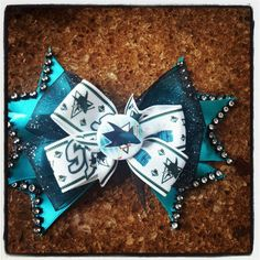 Hey, I found this really awesome Etsy listing at https://www.etsy.com/listing/186524175/san-jose-sharks-hair-bow