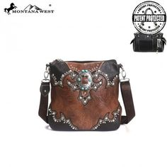 WESTERN CONCEALED HANDGUN COLLECTION MESSENGER BAG by Montana West – BKLN Always be ready to defend yourself with one of our Montana West concealed handgun collection handbags! We always hope to never be in the position to need it, but you just never know! And hey, at least you can do it in style. :)
