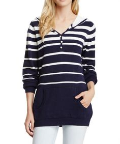 Look at this Navy Stripe Hoodie on #zulily today!