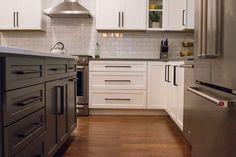 Cabinetry: Dura Supreme Cabinetry Countertops: Cambria in Britannica (Island) & Vicostone Quartz in Perimeter Uliano Gray (Base) Hardware: Top Knobs Faucet: Delta