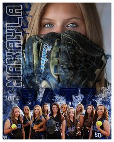 Softball, team photo, memory mate, composite, team and individual… Softball Team Pictures, Baseball Photos, Sports Pictures, Cheer Pictures, Sports Team Photography, Softball Photography, Senior Softball, Girls Softball, Baseball Field