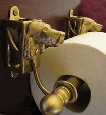 ENGLISH SETTER Bronze Toilet Paper Holder OR Paper Towel Holder!