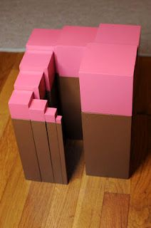 Our Montessori Story: Free Pink Tower/Brown Stair Extensions, Part 2 Montessori Practical Life, Montessori Preschool, Montessori Elementary, Montessori Education, Maria Montessori, Kids House, Children's House, Classroom Activities, Tower