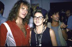 Madonna with David Lee Roth, 1985