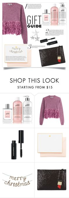 """Gift guide"" by collinsangelface110 ❤ liked on Polyvore featuring philosophy, McQ by Alexander McQueen, Bobbi Brown Cosmetics, Joie, Meri Meri, Lulu Guinness and giftguide"