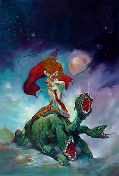 Esteban Maroto - Queen of Dragons Comic Art