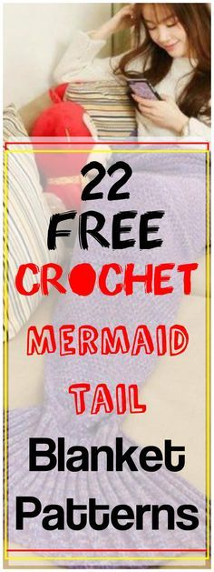 Crochet Afghans Ideas 22 Free Crochet Mermaid Tail Blanket Patterns - these 22 free mermaid tail crochet blanket patterns will be a total help! Each listed idea is unique and comes also with a complete step-by-step guide Mermaid Tail Blanket Pattern, Crochet Mermaid Blanket, Baby Girl Crochet, Crochet Pillow, Crochet For Kids, Free Crochet, Knit Crochet, Crochet Ideas, Mermaid Blankets