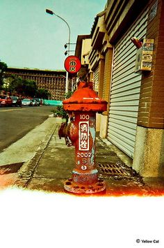 Fire Hydrant ~ Taichung, Taiwan------ i can pee there and then after get some chinese