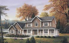 Country House Plans with Wrap Around Porch 5633-00021