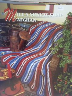 MileAMinute Strip Afghan  Annie's Crochet & by CarolsCreations77, $1.50