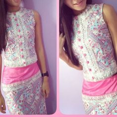 Sis in pretty myanmar dress