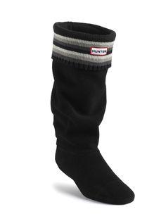 Stripe Cuff Welly Socks | Rain Boot Socks | Hunter Boot Ltd