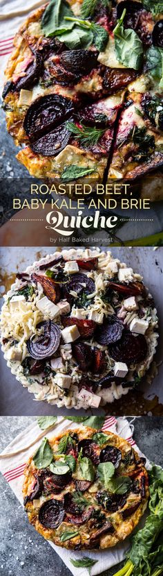 Roasted Beet, Baby Kale and Brie Quiche | Here Are 7 Delicious Dinners To Eat This Week @buzz