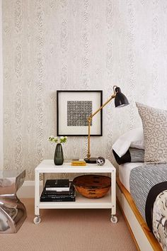 Globe and Mail Real Potential Black and White Fashionista Bedroom/ Sarah Richardson