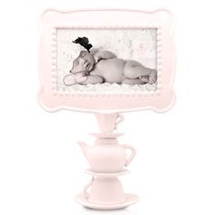 This is one of my favorites on totsy.com: Tea Time Pedestal Frame, Pink