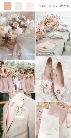 chic and stylish blush and ivory neutral wedding color combos wedding blush Top 10 Bush Pink Wedding Color Ideas for Spring 2020 Neutral Wedding Colors, Summer Wedding Colors, Wedding Color Schemes, Summer Colors, Spring Wedding, Dusty Rose Wedding, Blush Wedding Theme, Blush Pink Weddings, Wedding Motifs