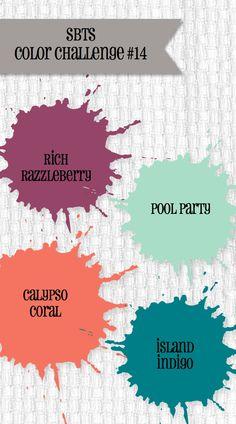 Color Challenge #14 www.stampinbythesea.com