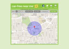 Car Free Near Me - Arlington County - Real time transit web app - mobile friendly website - location based transportation options - http://carfreenearme.com - interface design - Redmon Group #RedmonGroup