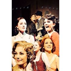 Collage of Laura Osnes roles