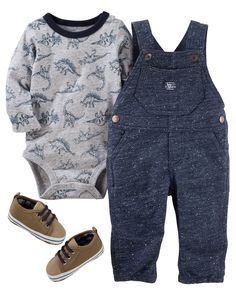 Baby Boy OKS17DECBABY35 from OshKosh B'gosh. Shop clothing & accessories from a trusted name in kids, toddlers, and baby clothes. #BabyboyOveralls #babyclothesboy https://presentbaby.com