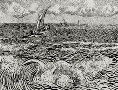 A Fishing Boat at Sea, 1888 Vincent van Gogh