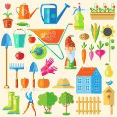 Garden Colored Icon Set