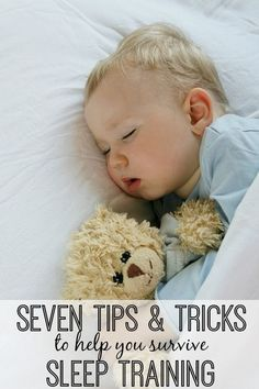 A list of 7 tips and tricks that helped me survive sleep training and find my way back to a full night of sleep.