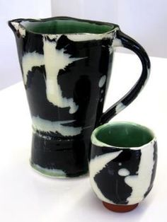 Glaze combination is gorgeous, very Robert Motherwell or Clyfford Still -esque