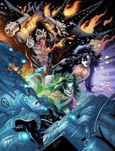 Kiss World, Heavy Metal Art, Kiss Art, Kiss Photo, Band Wallpapers, Metal Albums, Hot Band, Concert Posters, Rock Bands