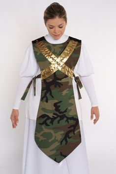 Camouflage Traditional Ephod w/Crossed Shield