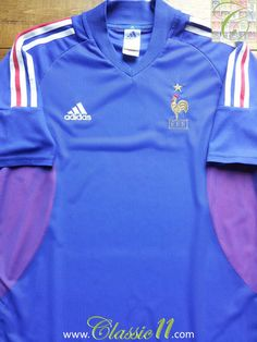 Relive France s 2002 2003 international season with this vintage Adidas  home football shirt. France ed00e6dc4