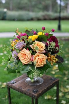 Similar to the centerpieces for the wedding.