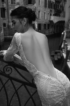 backless wedding dress by Inbal Dror