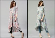 THIS SEASON ADD GRACE TO YOUR INDIAN KURTI DESIGNS · Poseinstyle Jacket Style Kurti, Kurti With Jacket, Denim Kurti, Stylish Kurtis, Grace To You, Special Occasion Outfits, Indian Ethnic, Denim Fashion, Suits For Women